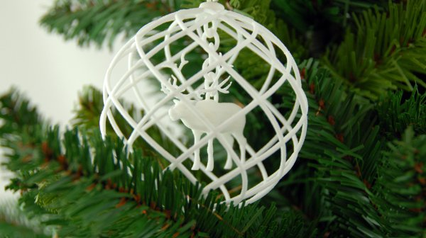 This is a picture of Zany 3d Print Christmas Ornaments
