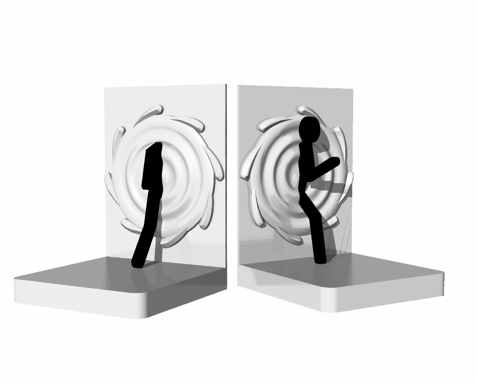 Portal inspired bookends on thingiverse 3d printing blog - Portal book ends ...