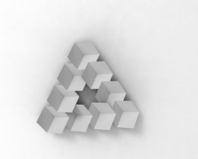 Impossible 3D printed Penrose Triangle: solved?