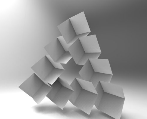 Penrose Triangle Cubes Impossible 3D printed ...
