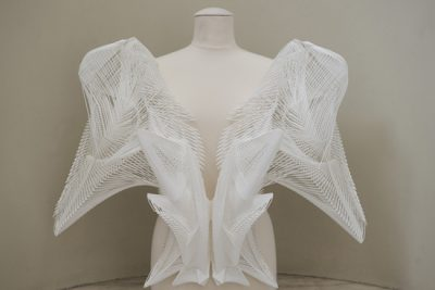 Impressions from 3D printed .MGX designs at the Victoria and Albert Museum in London