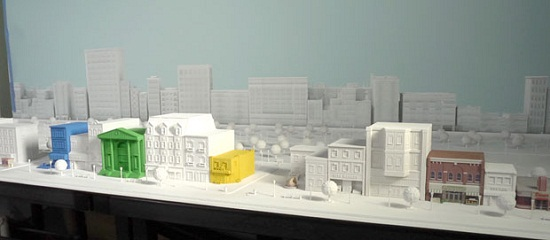 architecture city model 3d printing