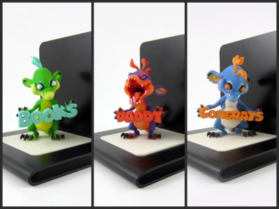 Decorate your bookcase with adorable little monsters