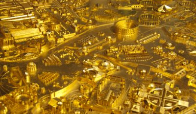 12 Yale students rebuild ancient Rome in gold for the Venice Biennale