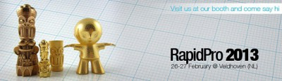 Join us at our booth at RapidPro and win one of our 3D printed lamps!