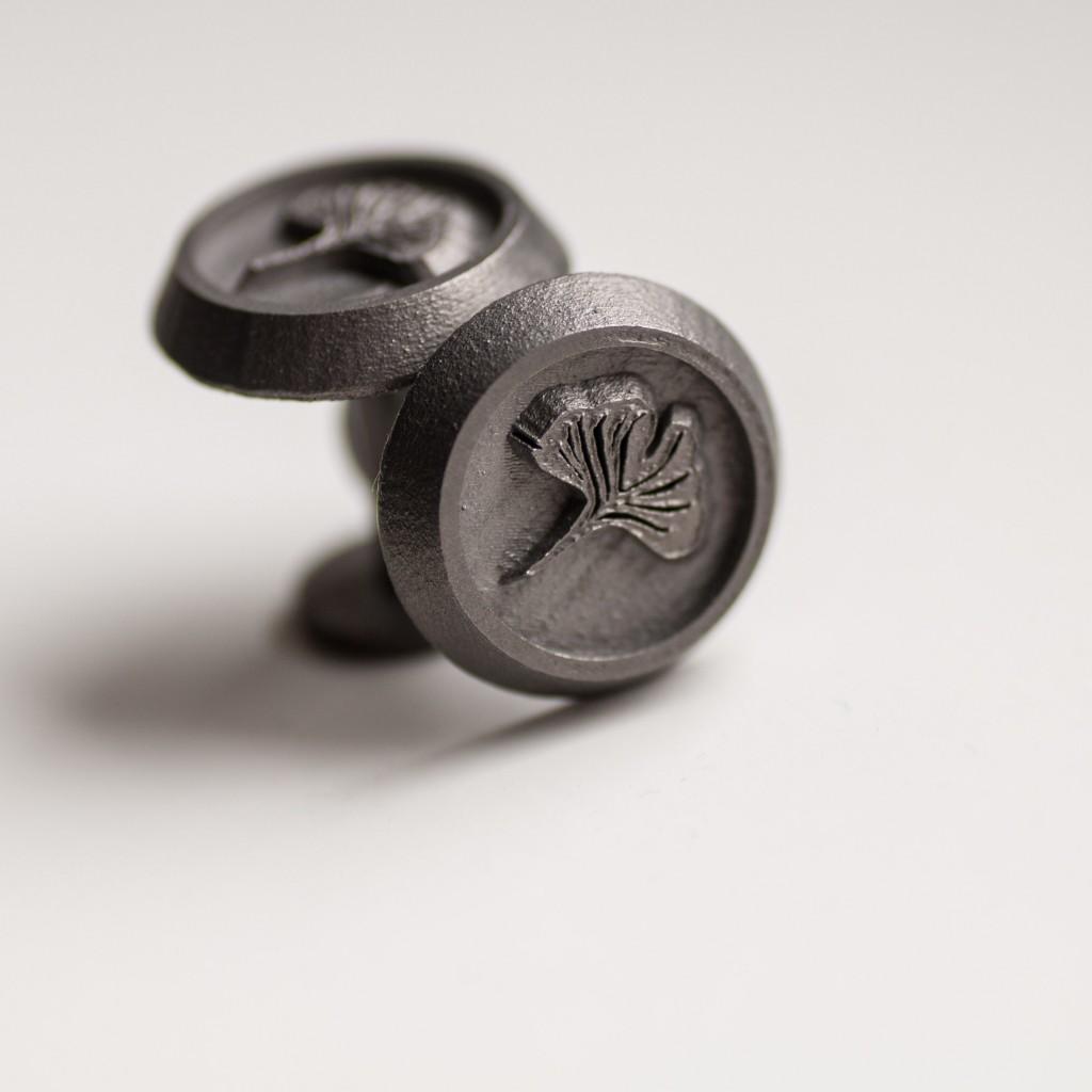 Titanium cufflinks by Steve Koll.