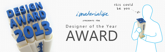 Who will be i.materialise's first 3D Printing Designer of the Year?