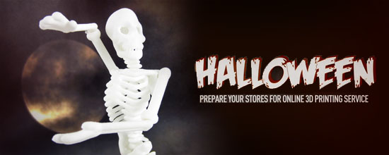 Friday the 13th….Start preparing your Halloween shops with our 3D printed push puppet Mr. Bones!