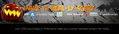 Instructables Contest: Make it real-ly scary and win amazing prizes from i.materialise & Autodesk 123D