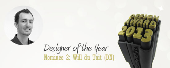 Second nominee for the i.materialise Designer of the Year Award: William du Toit