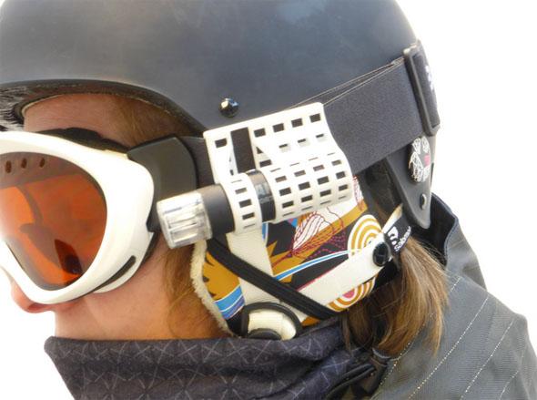 Camsports mount for ski goggles by Monique de Wilt