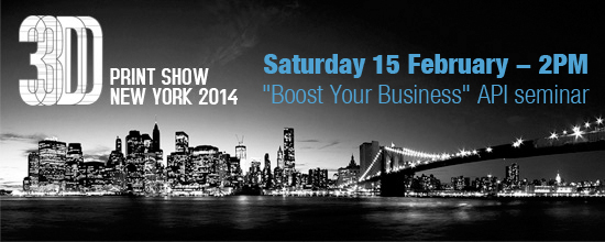 """Boost Your Business"" API seminar at 3D Printshow New York"