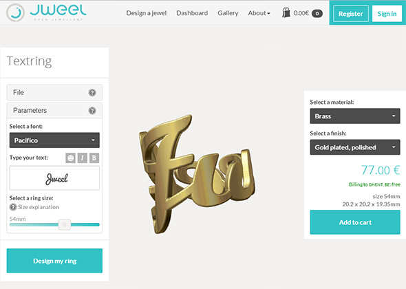 3D Printing Jewelry - Make 3D Jewlery Designs with Jweel | 3D