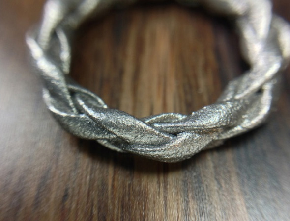 Four strand braided ring by Freakin' Sweet Knots