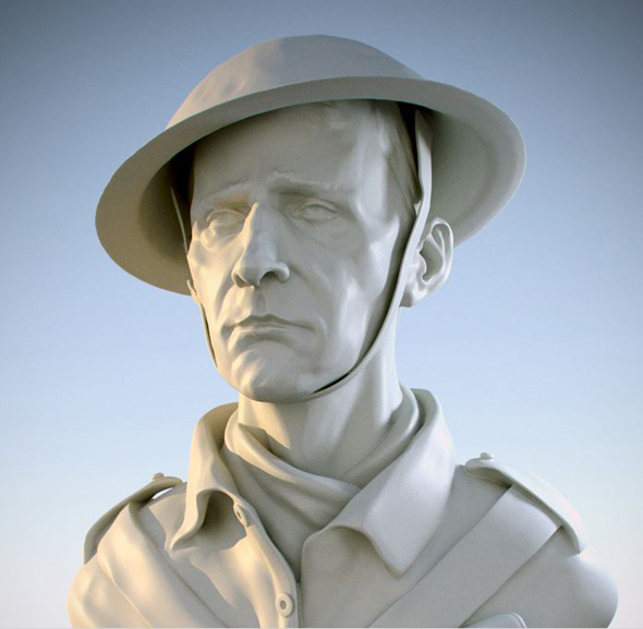 Dedicated to the soldiers who  landed on D-Day 70 years ago. 5 hours in Zbrush and Modo.