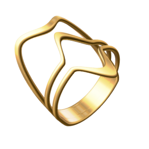 A Rendered Image of a 3D Gold Ring Created with JWEEL