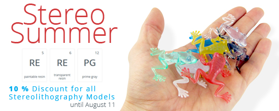 Stereo Summer Sale! 10% Discount on All Stereolithography Models until August 11th