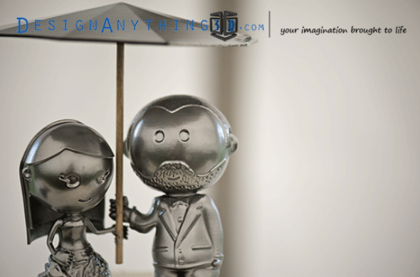 Metal cake toppers by  Josh Azevedo.