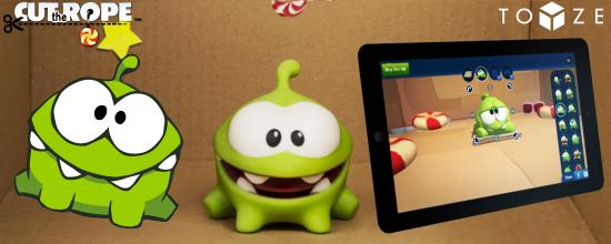 Blog header featuring Toyze screenshot, 3D printed figurine, and screenshot of the Toyze interface