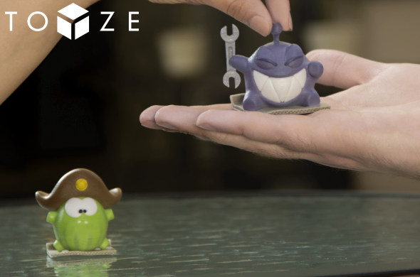 Toyze gives users the ability to 3D print custom figurines from mobile games.