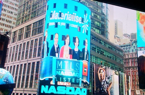 We were on Nasdaq tower on Times Square! © 2014, The NASDAQ OMX Group, Inc.