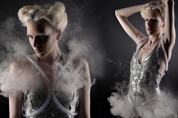 Anouk Wipprecht Smoke Dress