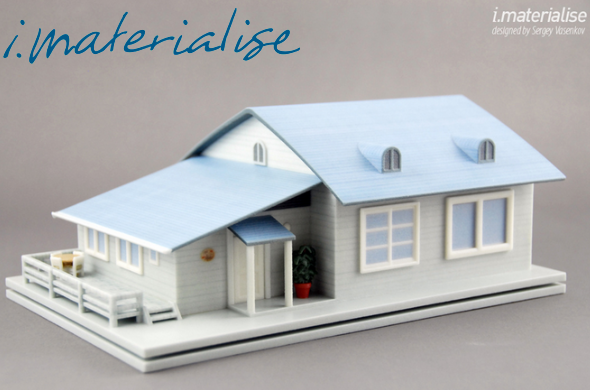 Houses made by an i.materialise customer using Google Sketchup