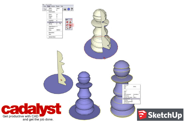 hollow your model in sketchup to 3D print it
