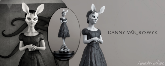 "Design and Photo by Danny van Ryswyk. The 3D sculpture is called ""White Rabbit."""