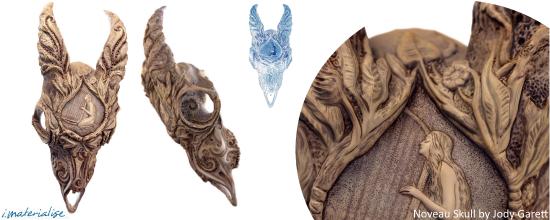 Noveau Skull by Jody Garett, featured on the i.materialise blog