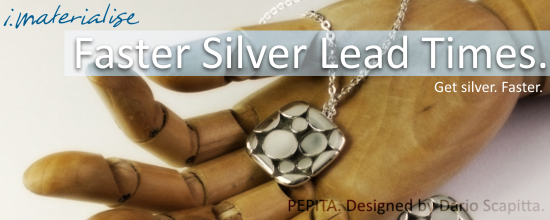 Silver Promotion Banner for Faster Lead Times. Featuring the PEPITA collection.