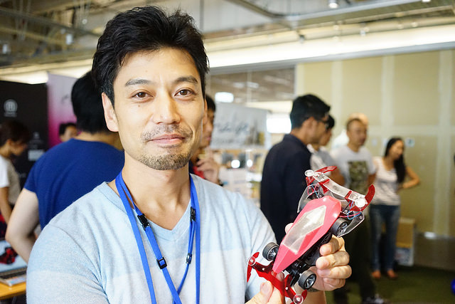 COO of FabCafe, Toshi and the Mini 4WD he 3D printed