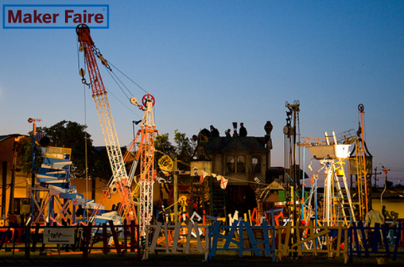 Maker Faire New York 2014 i.materialise Blog Article Photo of Life Size Mousetrap funded on Kickstarter