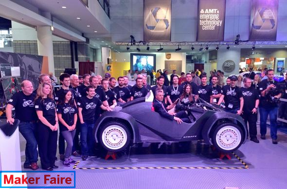 Local Motors Strati, the world's first 3D printed car!
