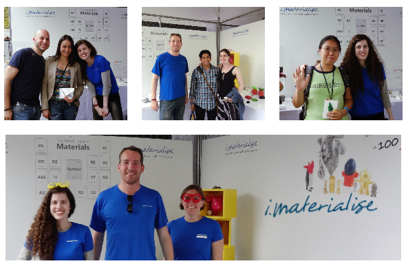 Maker Faire New York 2014: Free goodie bags for ticket giveaway winners at the i.materialise booth