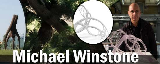Header image of Michael Winstone, a designer who scans and 3D prints giant tree sculptures using Materialise's Magics software.