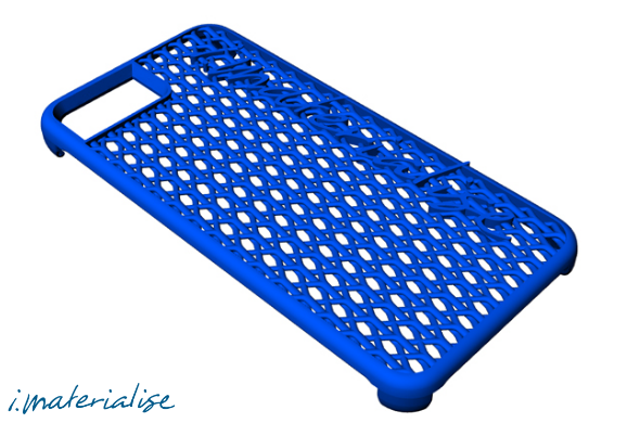 A Render Of The IPhone6 3D Printable STL File Case Made By Imaterialise