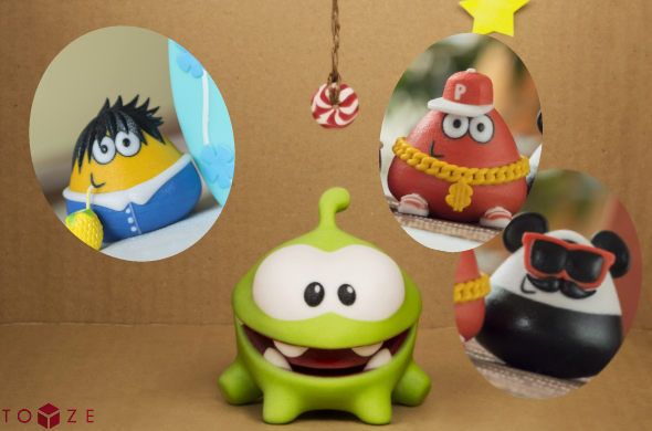 "We worked with Toyze to print and perfect Multicolor Gloss until it met their high standards. Gloss is now being used to create official merchandise from the best-selling Android games ""Cut the Rope"" and ""Pou."""
