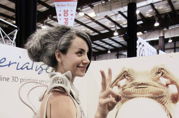 Anouk Wipprecht at the San Mateo Maker Faire in 2014