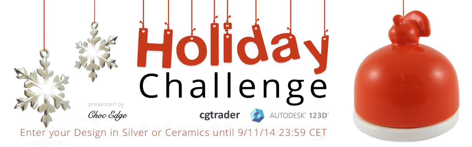 Join the CGTrader and i.materialise Holiday Gift Challenge and Enter to Win a Free Ceramics or Sterling Silver Print plus a Premium 123D License!