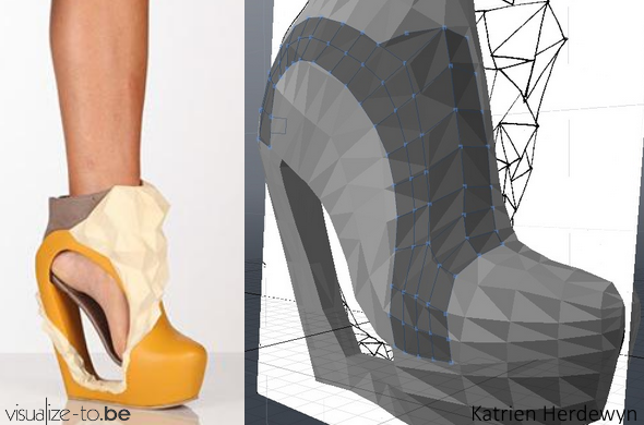 Picture of 3D printed shoe designed Katrien Herdewyn.