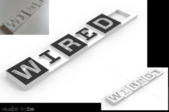 Wired.com keychain, created by Viz-to.be's very own Frederik Bussels.