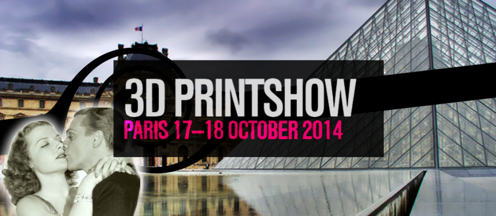 Header image for the 2014 3D Printshow Blog post by i.materialise's very own Rebecca Roxy Maas
