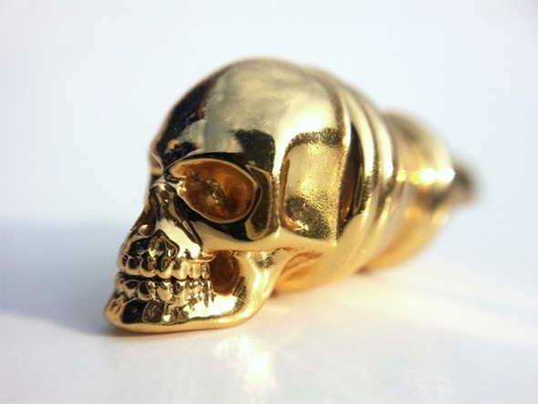 Skull Whistle Pendant by Michael Mueller