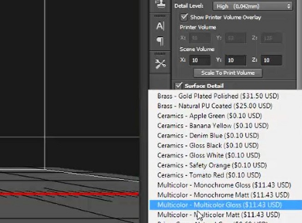 price for 3d printing in photoshop