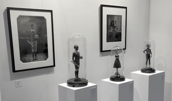 Danny van Ryswyk's sculptures displayed at the Affordable Art Fair in Hamburg. Photo by Jaski Art Gallery.