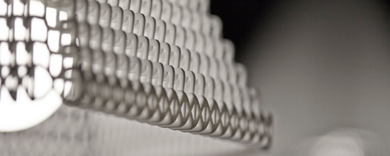ZooM lampshade by Michiel Cornelissen, printed in Polyamide
