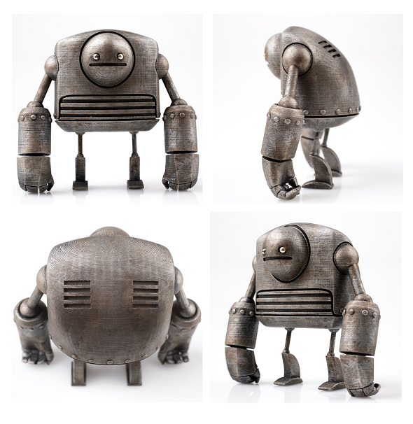 """Strong Bot"" 3D Printed in Gray Resin and hand-painted by Onorio"