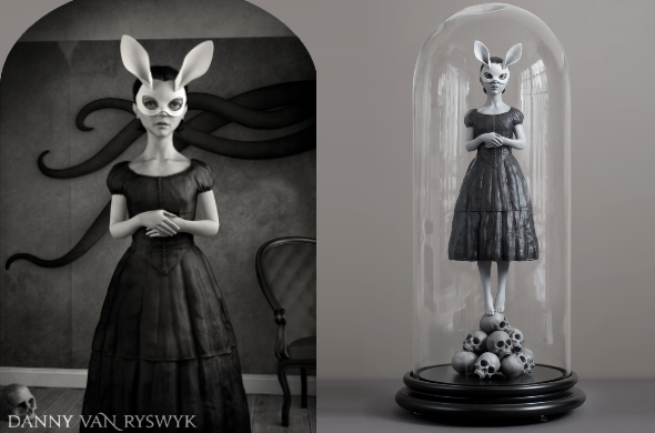 White Rabbit figurine by Danny van Ryswyk