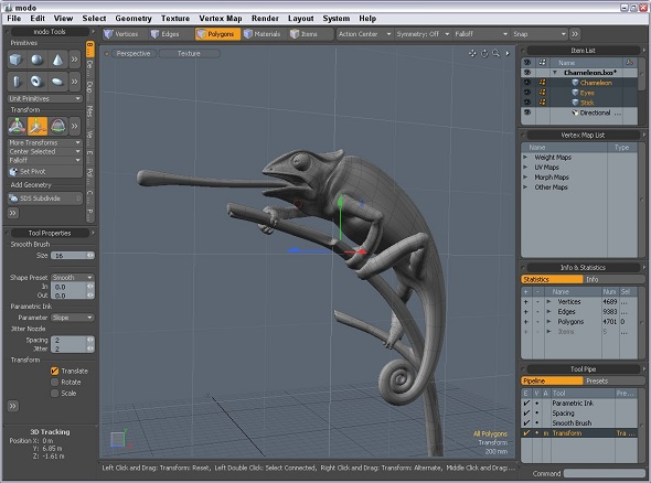 Learn to use 3D modeling software MODO